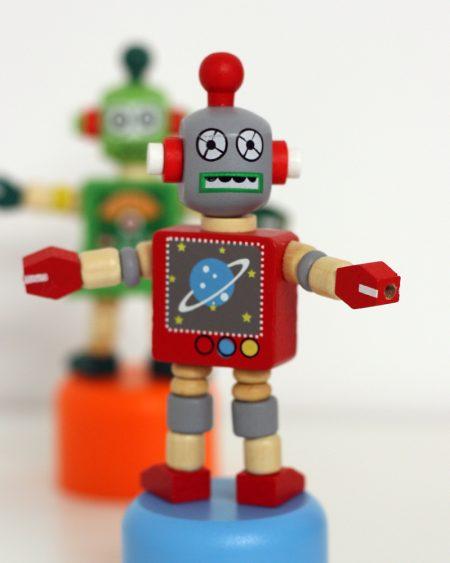 Wooden robot toys