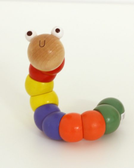 Wooden worm toy