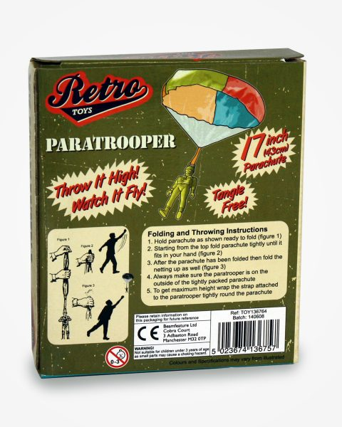 Retro Toy Paratrooper with parachute