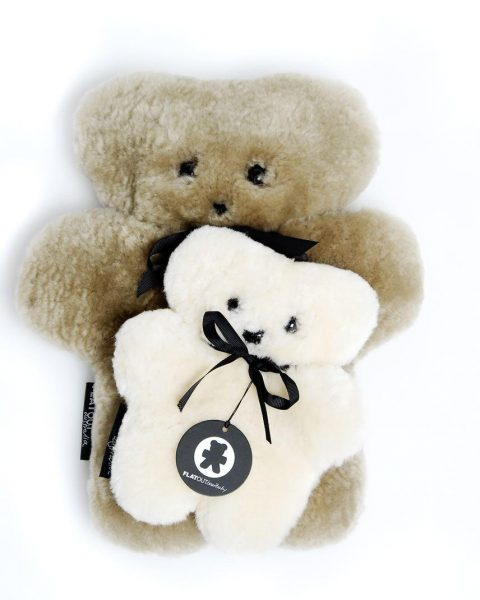 Baby Sheepskin Flat Out Bear- Milk