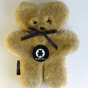 100% Sheepskin Flat Teddy Bear – Honey