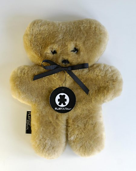 Flat Out Bear – Honey 100% Sheepskin Teddy
