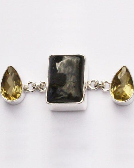 Labradorite & Citrine bracelet