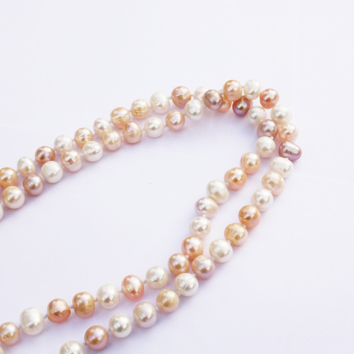freshwater pink pearls, wedding jewellery