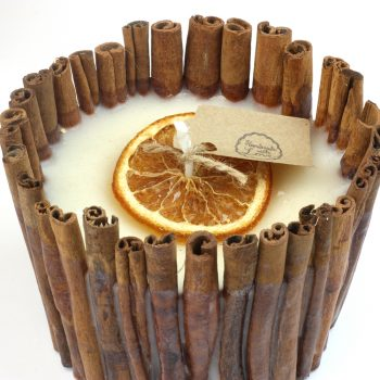 Handmade Cinnamon Stick & Orange Soy Candle
