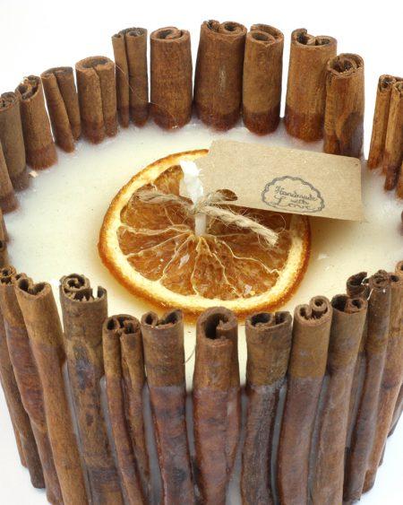 Handmade Cinnamon Stick & Orange Soy Candle