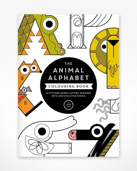 Alphabet Colouring-in book