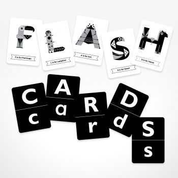 Flash Cards: Animal Alphabet – Black & White