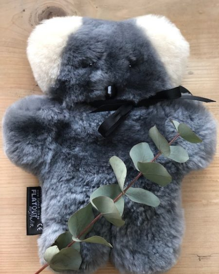 Koala Flat Out Bear – Handmade Sheepskin Teddy