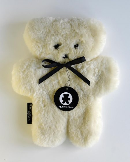 100% Sheepskin FlatTeddy Bear – Milk