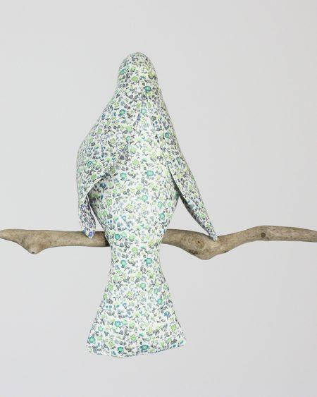 Liberty print 'Little Guardian' blue bird mobile