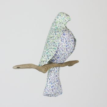 Liberty print 'Little Guardian' blue bird mobile