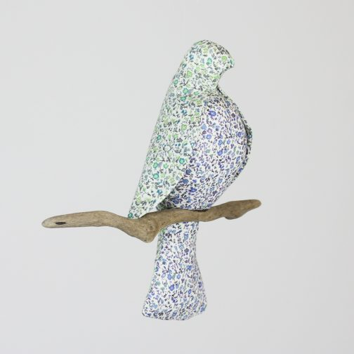 Liberty of London fabric, blue bird, bird mobile, mobile for nursery, nursery mobile