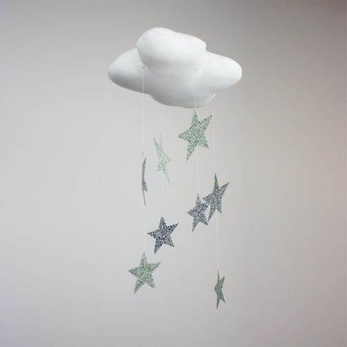 nursery decor, cot mobile, cloud and star mobile
