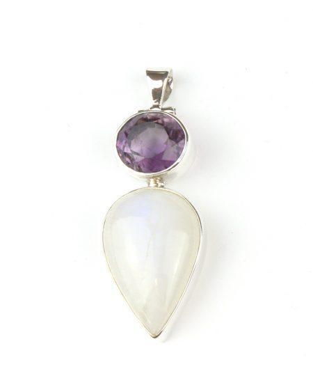 Moonstone & Amethyst pendant