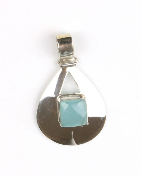 Silver Chalcedony pendant