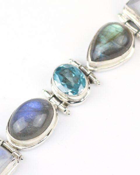 Moonstone, Labradorite and Topaz bracelet