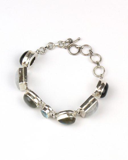 Moonstone, Labradorite and Topaz bracelet