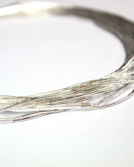 Liquid Silver multi strand necklace
