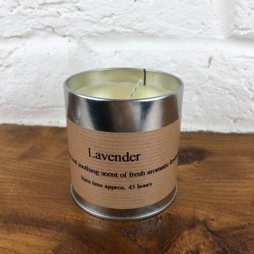 Lavender candle tin, candle tin, tin, candle,