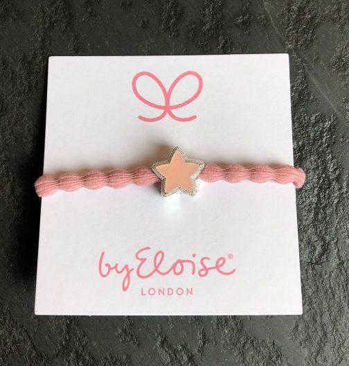 bangle band, hair tie, hair band, star. pale pink, hair accessories