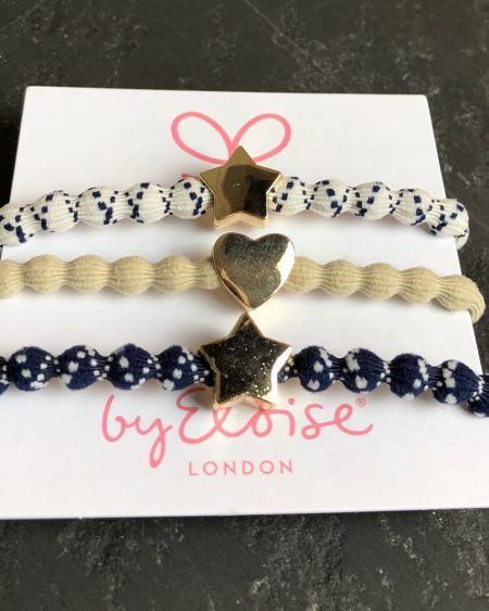 Ultimate Trio – Nautical Theme Bangle Bands, Gold Star & Heart Charms
