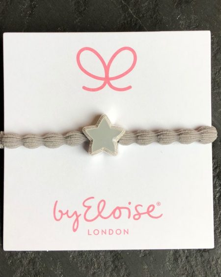 Star Bangle Band – Grey Bubble Hair Tie With Star Charm