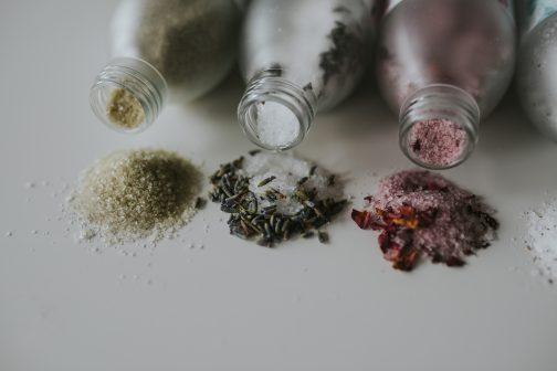 Lavender bath salts, natural, ethical, handmade, sleep aid, sleep aide, bedtime, bedtime routine, bath, bathtime, epsom, epsom salts, magnesium, hot spring