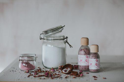 Rose bath salts, rose, salts, bath salts, aromatherapy, relaxation, bath, bathtime, epsom, magnesium