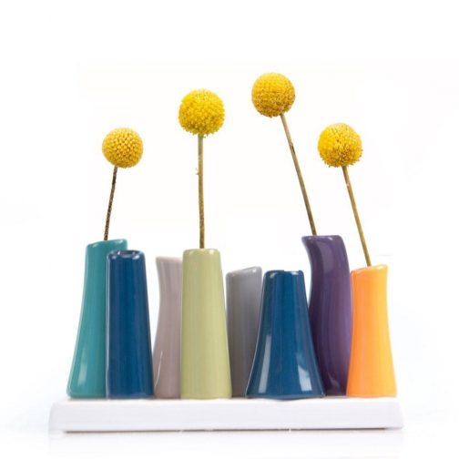Multi-Stem Vibrant Vase, bud vase, pooley, fresh flowers. flower display