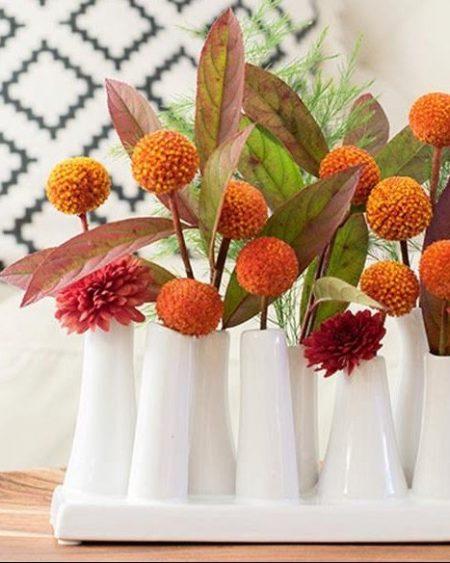 Multi-Stem White Vase