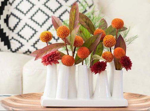 Multi-Stem White Vase, bud vase, garden cuttings, posy, Multi-Stem White Vase , flower arrangement