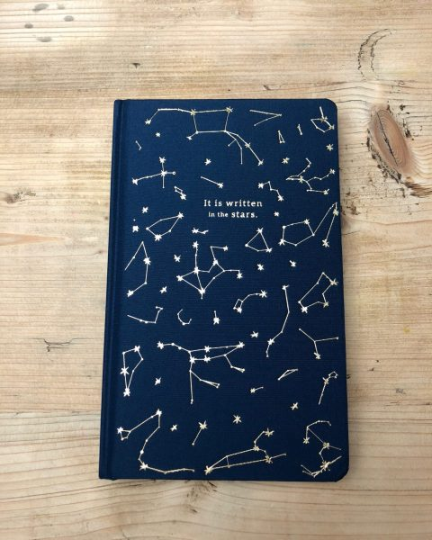 """It's Written in the Stars"" Book Cloth Journal"