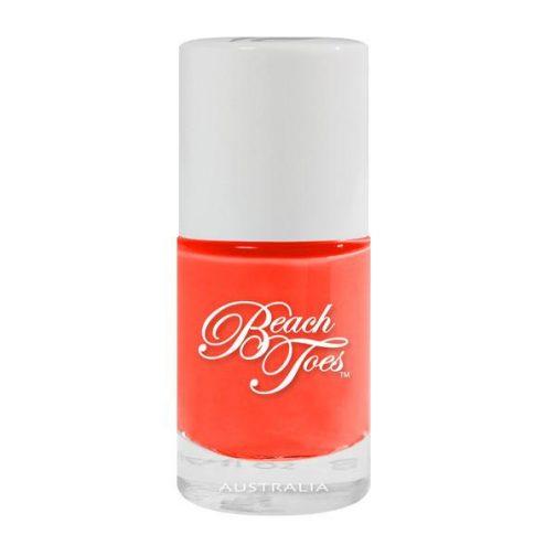 Coal beach toes, coral nail varnish, coral nail polish