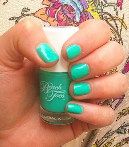 caribbean crush, beach toes nail varnish, beach toes nail polish