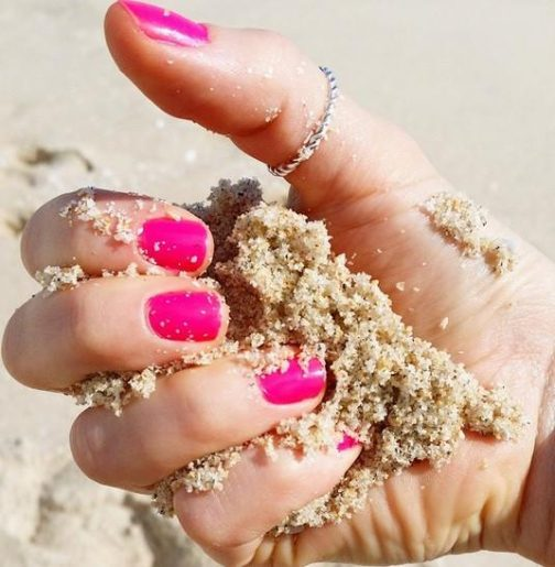 Pink nail polish by Beach toes, Sunday Session nail varnish, Beach Toes Nail Polish