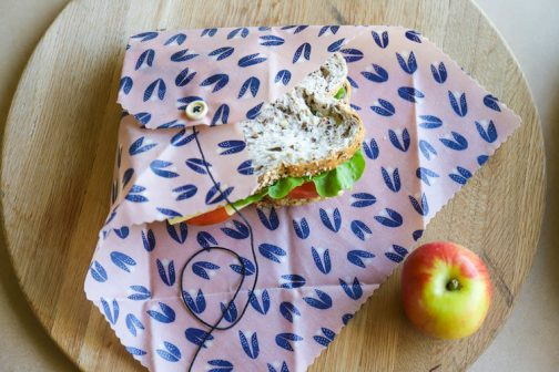 Alternative to cling film, beeswax sandwich wrap