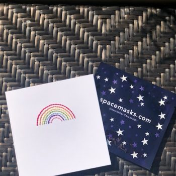 Mooch x Kitty Ricco – Handmade Rainbow card & Spacemask