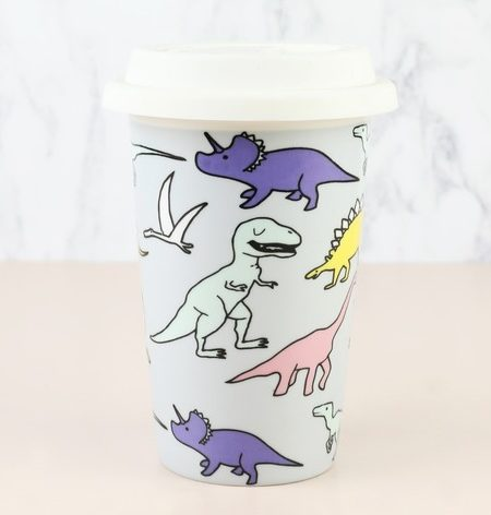 Dinosaur Ceramic Travel Mug