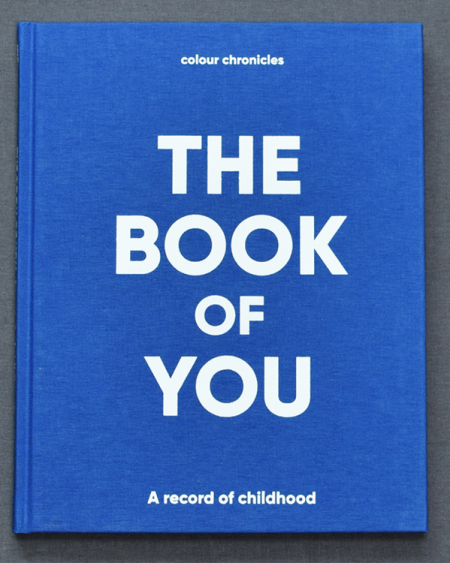 The Book Of You – Baby Book / Childhood Journal – Blue