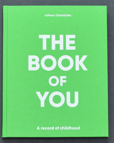 The Book Of You – Baby Book / Childhood Journal – Green
