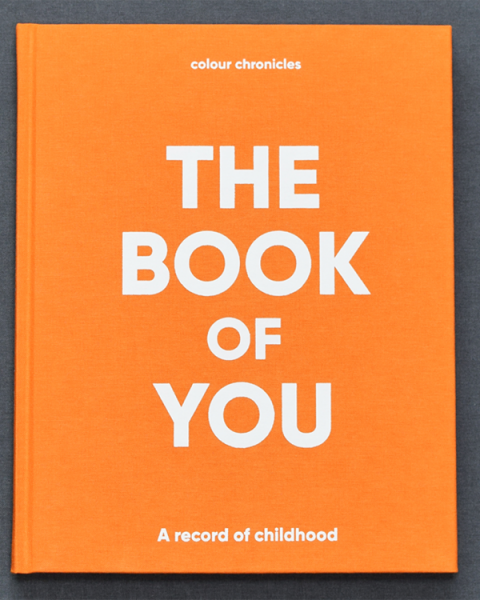 The Book Of You – Baby Book / Childhood Journal – Orange