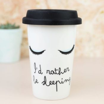 """I'd rather be sleeping"" Ceramic Travel Mug"