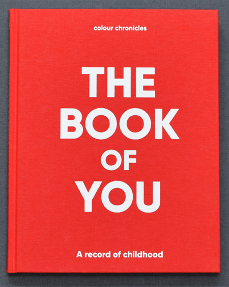 The Book Of You – Baby Book / Childhood Journal – Red
