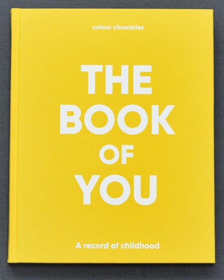The Book Of You – Baby Book / Childhood Journal – Yellow