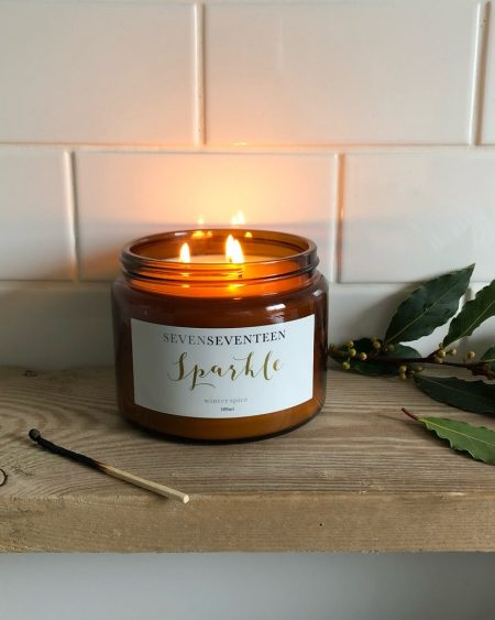 SevenSeventeen Sparkle Candle – Winter Spice