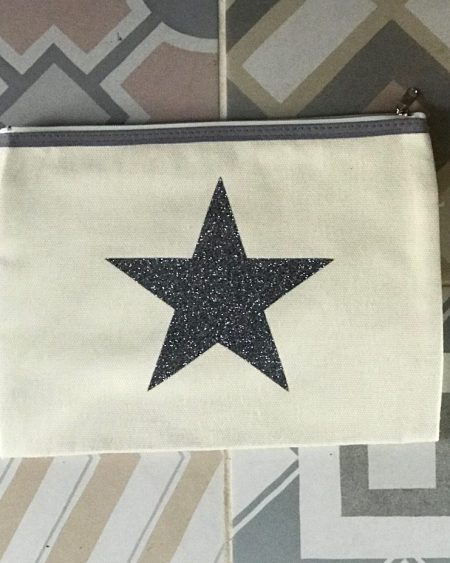 Handmade Pouch – Glitter Star Make-Up Bag