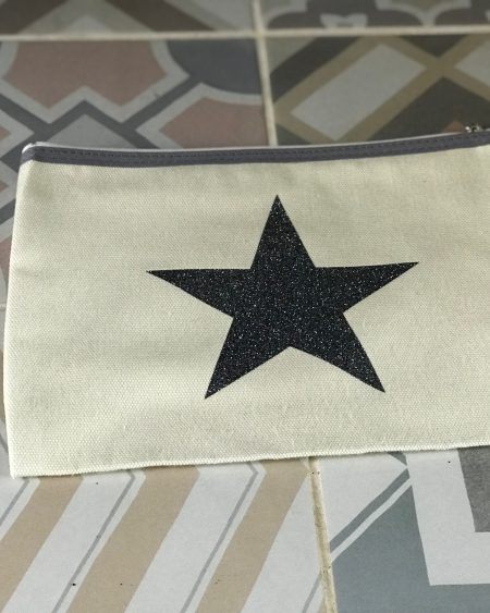 Handmade Pouch – Glitter Star Make-Up Bag