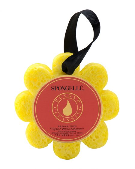 Spongelle Body Wash Infused Sponge – Papaya Yuzu