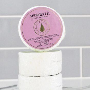 french lavender body wash infused sponge